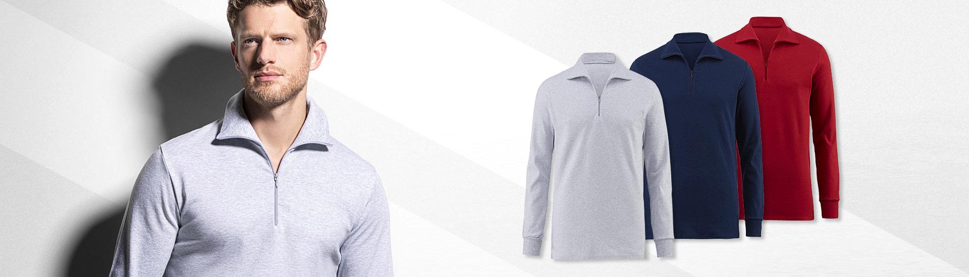 Shirts mit Zipper